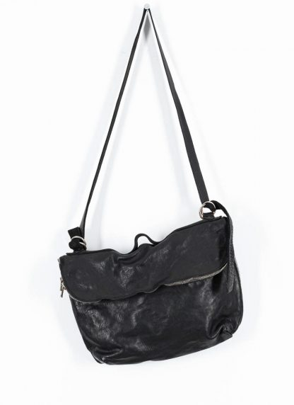 GUIDI messenger shoulder bag M10 tasche soft horse full grain leather black hide m 2