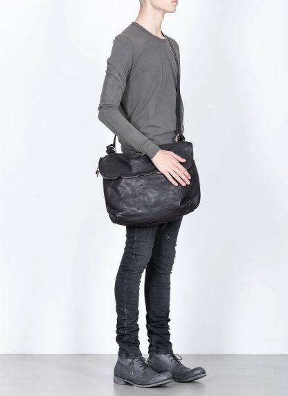 GUIDI messenger shoulder bag M10 tasche soft horse full grain leather black hide m 3