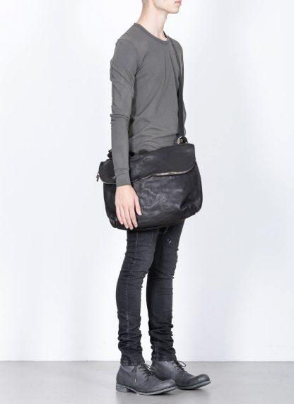 GUIDI messenger shoulder bag M10 tasche soft horse full grain leather black hide m 4