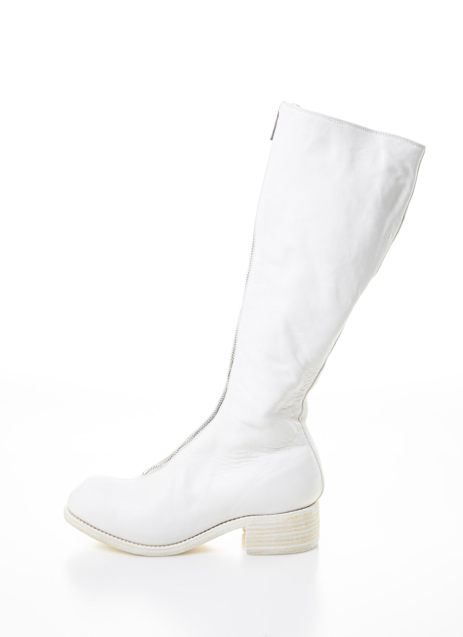 GuidiPl3 Zip BootWhiteHorse Leather Front GuidiPl3 CBredxoW