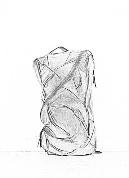 LEON EMANUEL BLANCK Distortion Pregnant Lady Backpack Bag Tasche Rucksack DIS M PLBP 01 horse full grain leather black hide m 1