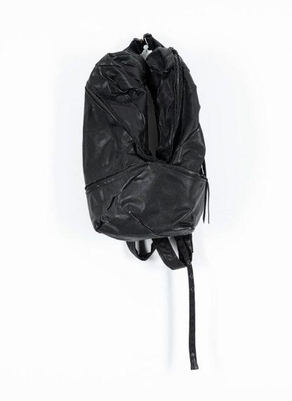 LEON EMANUEL BLANCK Distortion Stump Leg Backpack Bag Tasche Rucksack DIS SLBP 01 horse full grain leather black hide m 2