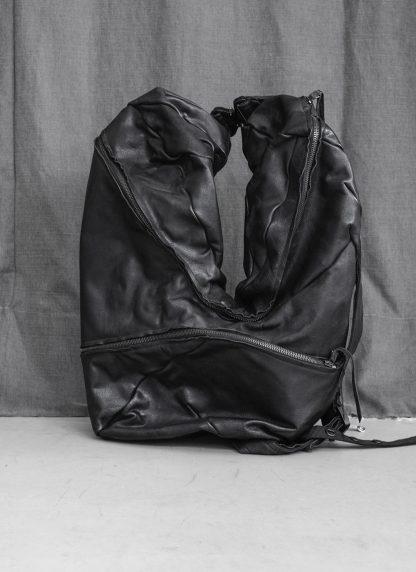 LEON EMANUEL BLANCK Distortion Stump Leg Backpack Bag Tasche Rucksack DIS SLBP 01 horse full grain leather black hide m 3