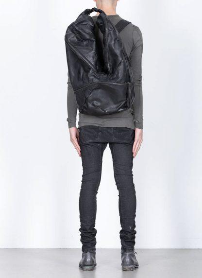 LEON EMANUEL BLANCK Distortion Stump Leg Backpack Bag Tasche Rucksack DIS SLBP 01 horse full grain leather black hide m 4