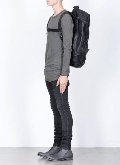 LEON EMANUEL BLANCK Distortion Stump Leg Backpack Bag Tasche Rucksack DIS SLBP 01 horse full grain leather black hide m 5