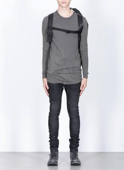 LEON EMANUEL BLANCK Distortion Stump Leg Backpack Bag Tasche Rucksack DIS SLBP 01 horse full grain leather black hide m 6