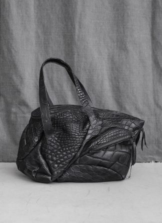 LEON EMANUEL BLANCK Distortion Weekender Bag Tasche DIS WEB 01 S wild alligator leather black hide m 3
