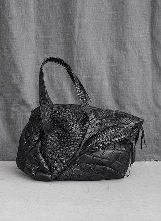 LEON EMANUEL BLANCK Distortion Weekender Bag Tasche DIS WEB 01 S wild alligator leather black hide m 3