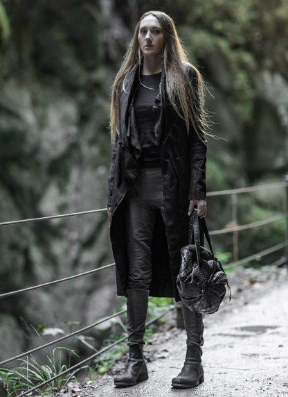 LEON EMANUEL BLANCK Distortion Weekender Bag Tasche DIS WEB 01 S wild alligator leather black hide m 4