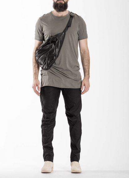 LEON EMANUEL BLANCK distortion dealer bag tasche DIS DB 01 L horse leather black hide m 3