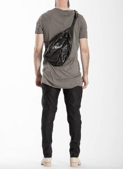 LEON EMANUEL BLANCK distortion dealer bag tasche DIS DB 01 L horse leather black hide m 4