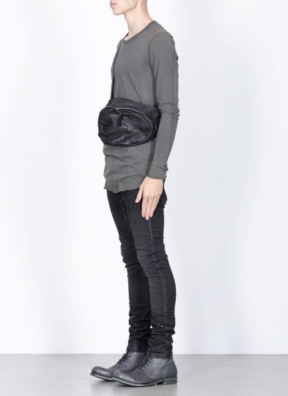 LEON EMANUEL BLANCK distortion dealer bag tasche DIS DB 01 M horse full grain leather black hide m 3