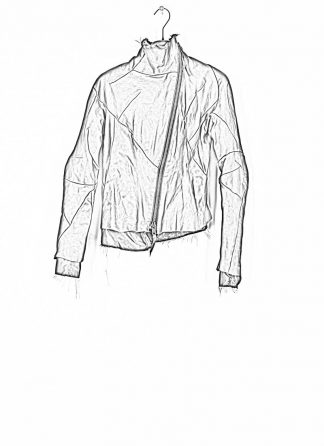 LEON EMANUEL BLANCK distortion jacket women damen leder jacke with black lining DIS W J 01 oiled calf leather dark red hide m 1
