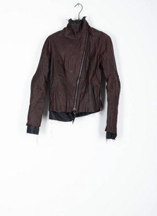 LEON EMANUEL BLANCK distortion jacket women damen leder jacke with black lining DIS W J 01 oiled calf leather dark red hide m 2