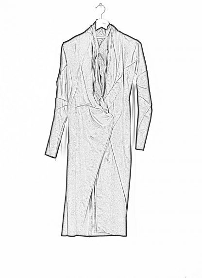 LEON EMANUEL BLANCK distortion long blazer with silk scarf DIS W LB 01 damen jacke mantel pure cashmere black hide m 1