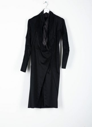 LEON EMANUEL BLANCK distortion long blazer with silk scarf DIS W LB 01 damen jacke mantel pure cashmere black hide m 2