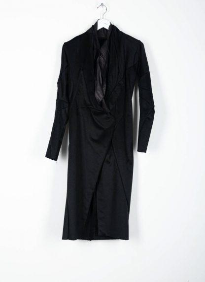 LEON EMANUEL BLANCK distortion long blazer with silk scarf DIS W LB 01 damen jacke mantel pure cashmere black hide m 2