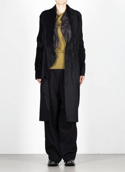 LEON EMANUEL BLANCK distortion long blazer with silk scarf DIS W LB 01 damen jacke mantel pure cashmere black hide m 3