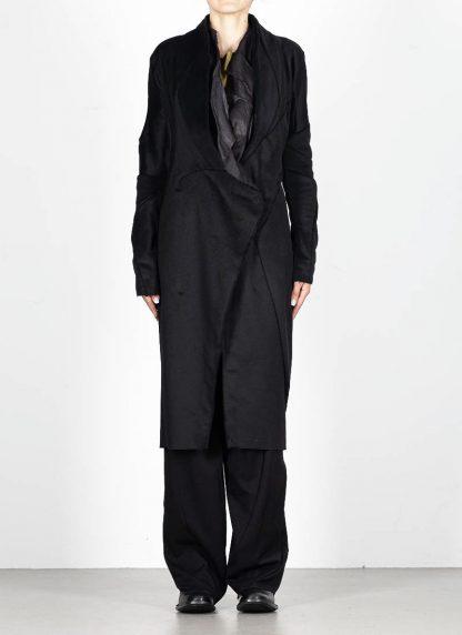 LEON EMANUEL BLANCK distortion long blazer with silk scarf DIS W LB 01 damen jacke mantel pure cashmere black hide m 4