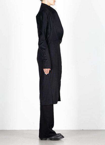 LEON EMANUEL BLANCK distortion long blazer with silk scarf DIS W LB 01 damen jacke mantel pure cashmere black hide m 5