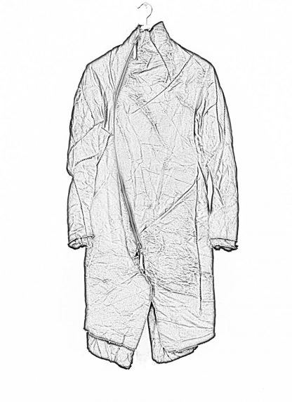 LEON EMANUEL BLANCK men distortion curved coat herren mantel parka DIS M CC 01 with removable extended inner coat shell stinging nettle cotton lining mink black hide m 1