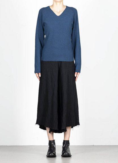 M.A MAURIZIO AMADEI fw1920 women V neck med fit pullover sweater damenpulli NT250 FWSK virgin wool silk cashmere petrol blue hide m 3