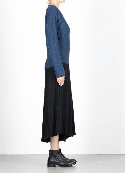 M.A MAURIZIO AMADEI fw1920 women V neck med fit pullover sweater damenpulli NT250 FWSK virgin wool silk cashmere petrol blue hide m 4