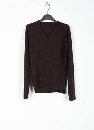 M.A MAURIZIO AMADEI fw1920 women V neck med fit pullover sweater damenpulli NT250 FWSK virgin wool silk cashmere red brown hide m 2