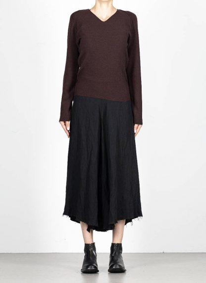 M.A MAURIZIO AMADEI fw1920 women V neck med fit pullover sweater damenpulli NT250 FWSK virgin wool silk cashmere red brown hide m 3