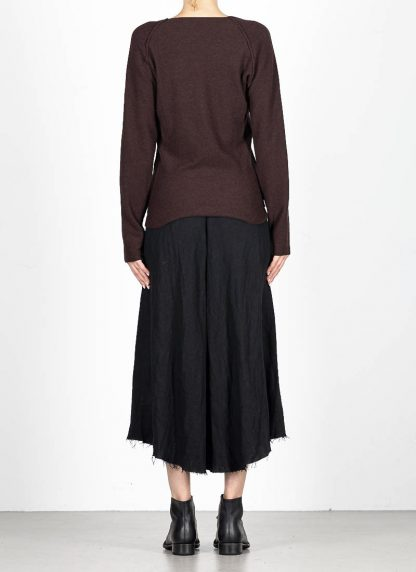 M.A MAURIZIO AMADEI fw1920 women V neck med fit pullover sweater damenpulli NT250 FWSK virgin wool silk cashmere red brown hide m 5