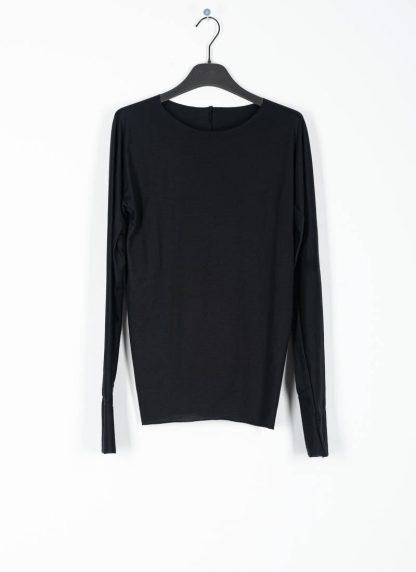 M.A MAURIZIO AMADEI fw1920 women med fit one piece long sleeve tshirt damen tee top TW221D JCL10 cotton black hide m 2