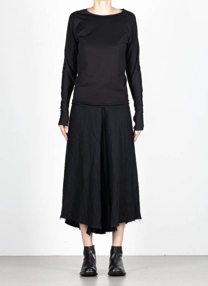 M.A MAURIZIO AMADEI fw1920 women med fit one piece long sleeve tshirt damen tee top TW221D JCL10 cotton black hide m 3