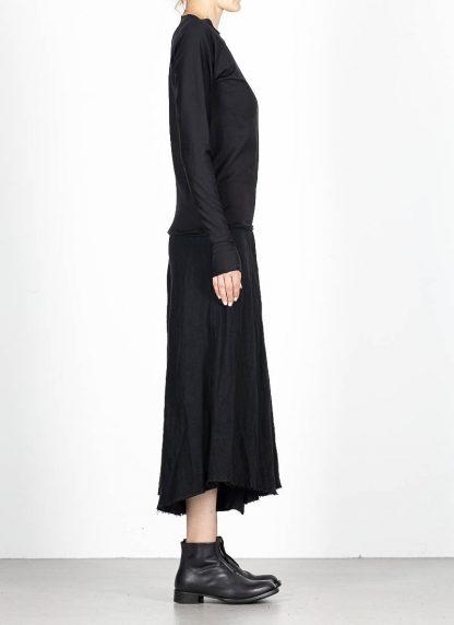 M.A MAURIZIO AMADEI fw1920 women med fit one piece long sleeve tshirt damen tee top TW221D JCL10 cotton black hide m 4