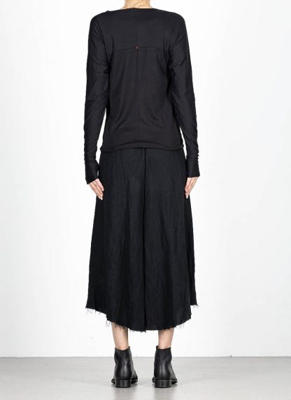 M.A MAURIZIO AMADEI fw1920 women med fit one piece long sleeve tshirt damen tee top TW221D JCL10 cotton black hide m 5