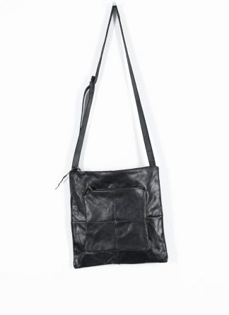 M.A Maurizio Amadei Patchwork Double Messenger Bag Tasche BQ22 CU 1.0 horse leather black hide m 2