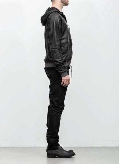 M.A maurizio amadei men deep pocket hooded bomber jacket J330H black super soft lamb leather TEX 0.5 hide m 5 1