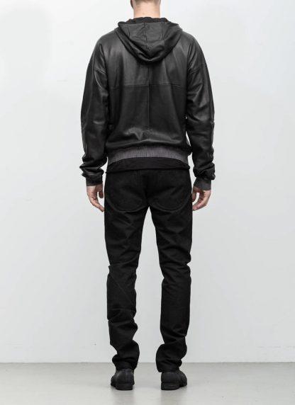 M.A maurizio amadei men deep pocket hooded bomber jacket J330H black super soft lamb leather TEX 0.5 hide m 6 1