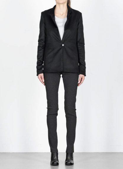 M.Across MAURIZIO AMADEI fw1920 women Vertical Pockets Blazer Jacket damen jacke JW120 KK1 pure cashmere black hide m 4