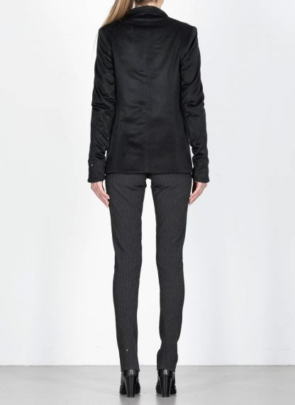 M.Across MAURIZIO AMADEI fw1920 women Vertical Pockets Blazer Jacket damen jacke JW120 KK1 pure cashmere black hide m 6