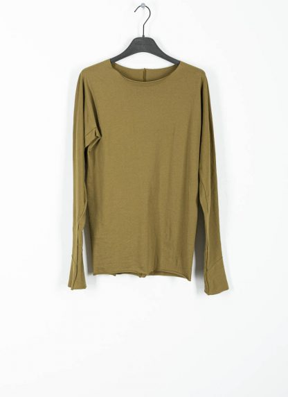 M.Across MAURIZIO AMADEI fw1920 women med fit one piece long sleeve tshirt damen tee top TW221D JCL10 cotton olive green hide m 2