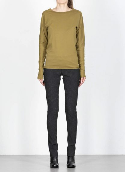 M.Across MAURIZIO AMADEI fw1920 women med fit one piece long sleeve tshirt damen tee top TW221D JCL10 cotton olive green hide m 3