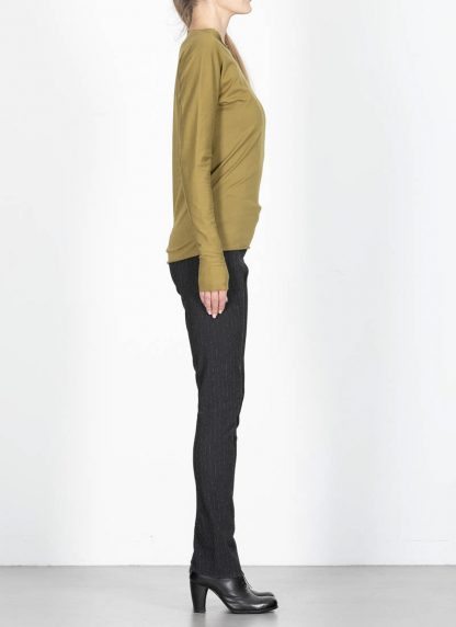 M.Across MAURIZIO AMADEI fw1920 women med fit one piece long sleeve tshirt damen tee top TW221D JCL10 cotton olive green hide m 4
