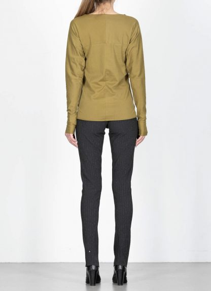 M.Across MAURIZIO AMADEI fw1920 women med fit one piece long sleeve tshirt damen tee top TW221D JCL10 cotton olive green hide m 5