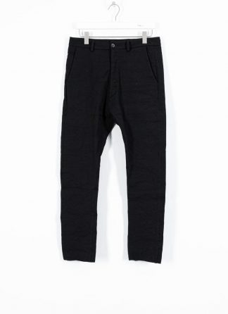 POEME BOHEMIEN fw1920 men baggy pants PT 35 W611 99 CO WV MTF EA black hide m 2