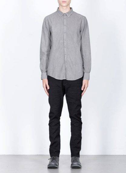 POEME BOHEMIEN fw1920 men button down shirt hemd regular fit SH 01 T602 30 cotton light grey hide m 3