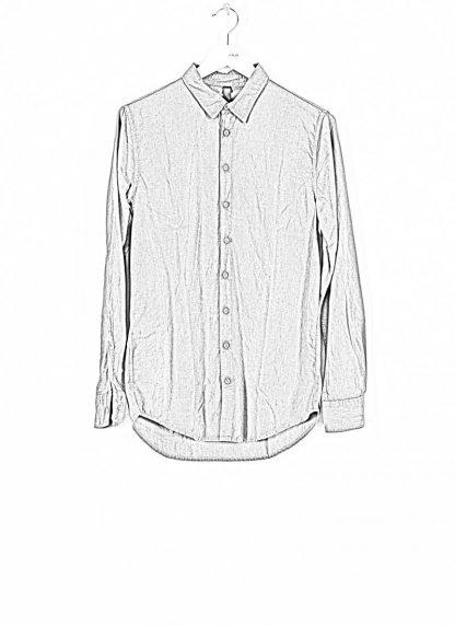 POEME BOHEMIEN fw1920 men button down shirt hemd regular fit SH 01 T602 70 cotton medium grey hide m 1