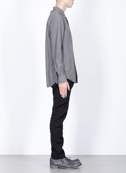 POEME BOHEMIEN fw1920 men button down shirt hemd regular fit SH 01 T602 70 cotton medium grey hide m 4