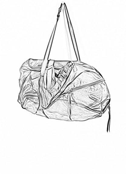 LEON EMANUEL BLANCK Distortion Weekender Bag Tasche DIS WEB 01 M horse full grain leather black hide m 1
