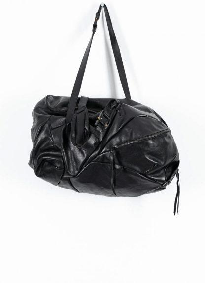 LEON EMANUEL BLANCK Distortion Weekender Bag Tasche DIS WEB 01 M horse full grain leather black hide m 2
