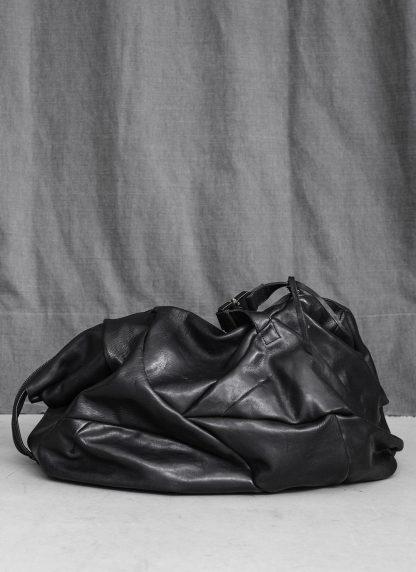 LEON EMANUEL BLANCK Distortion Weekender Bag Tasche DIS WEB 01 M horse full grain leather black hide m 3